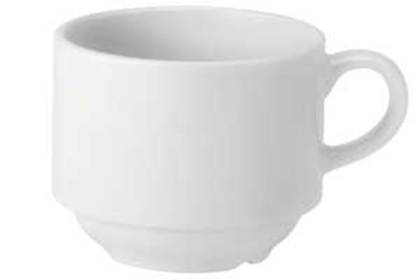 Picture of x24 7oz PURE WHITE STACKING CUPS
