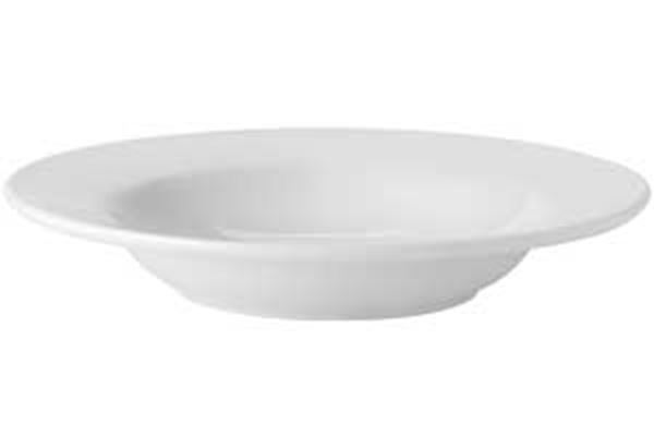 """Picture of x24 9"""" PURE WHITE RIMMED SOUP BOWL"""