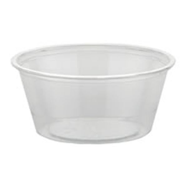 Picture of x250 2oz PLASTIC CLEAR SOUFFLE CUPS