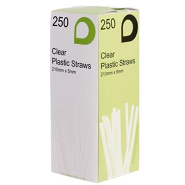"""Picture of x250 8"""" CLEAR  FLEXISTRAW"""