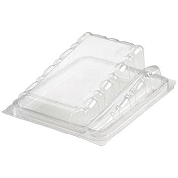 Picture of x250 HINGED CAKE SLICE CONTAINER & SPORK