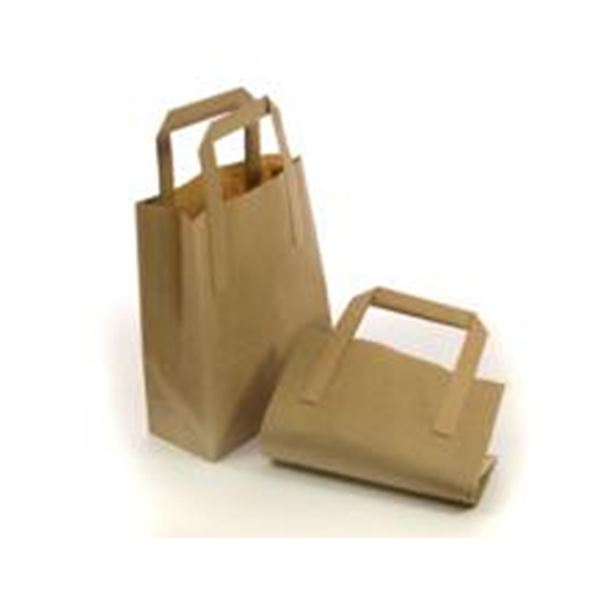 Picture of x250 KRAFT CARRIER BAGS - SMALL 18x8.5x22cm WxDxH