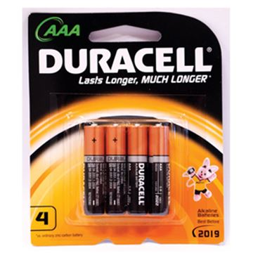 Picture of x4  AAA DURACELL BATTERIESMN2400B4