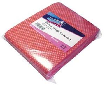 Clean & Clever Medium Weight Cloths | Red
