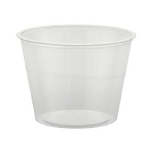 Picture of x500 5.5oz PLASTIC CLEAR SOUFFLE CUPS