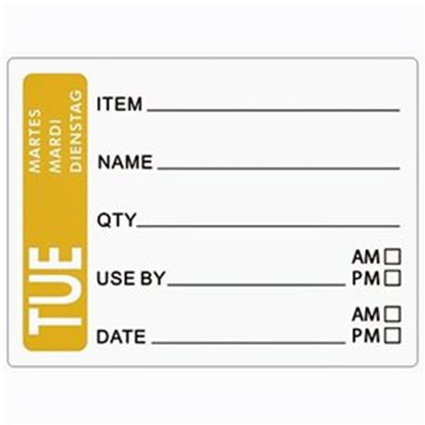 DAY OF THE WEEK LABELS - TUESDAY