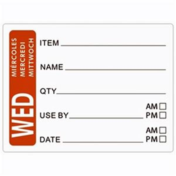 DAY OF THE WEEK LABELS - WEDNESDAY