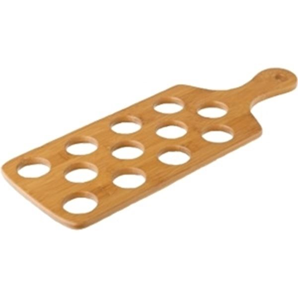 Picture of x6 BAMBOO SHOT PADDLE  - HOLDS 12 SHOTS 40x15.5cm