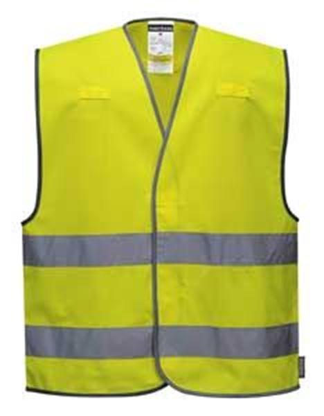 Hi-Vis Versatile Vest Two Band - YELLOW