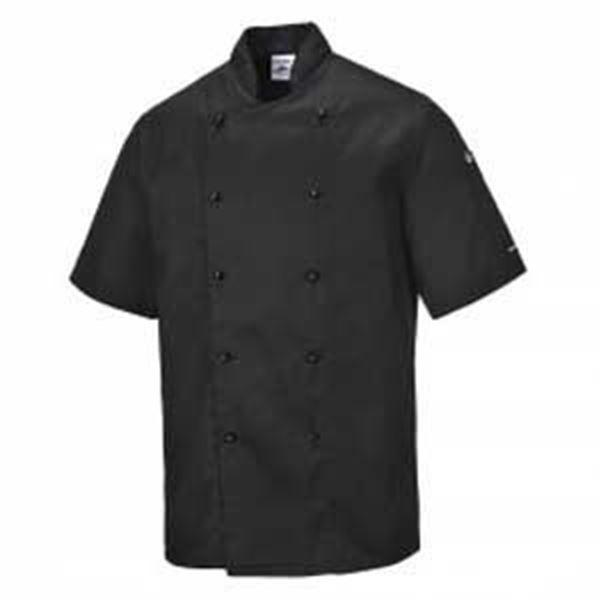 Kent Short Sleeve Chefs Jacket - Black