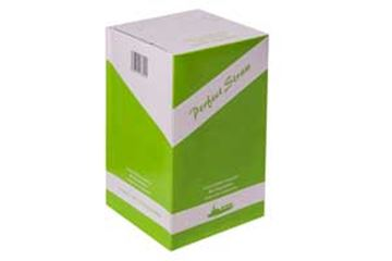 """Picture of x200 SMOOTHIE BIODEGRADABLE STRAWS - WHITE 9"""""""