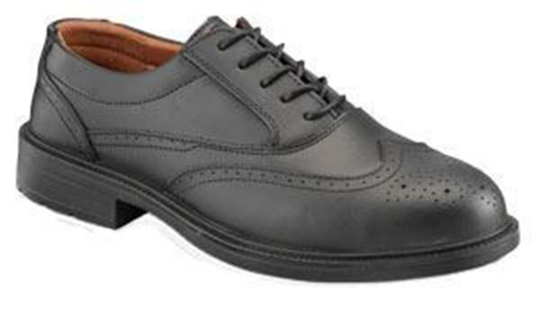 Picture of Black Brogue Shoes c/w Steel Midsole - Size 12