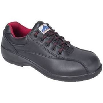 STEELITE LADIES BLACK SAFETY SHOES S1 - SIZE 8