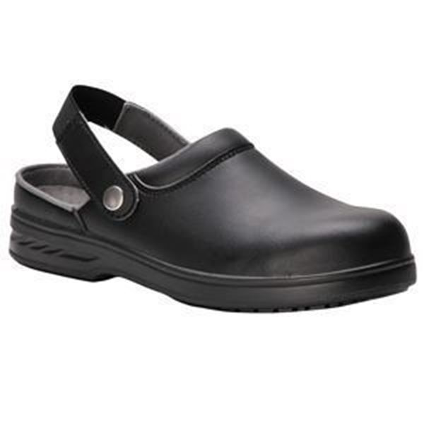 STEELITE SAFETY CLOG BLACK - SIZE 6