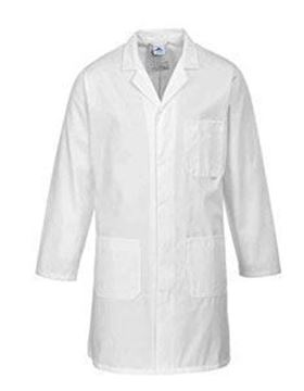Stnd Mens Dust Coat Ployester /Cotton WhiteLarge