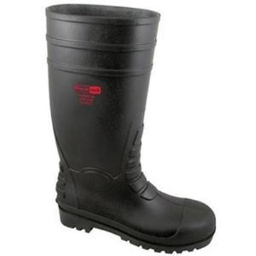 TC200 Black Safety Wellingtons - size 8