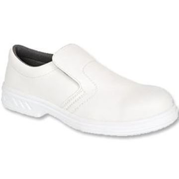 White Slip On Safety Shoes - Size 8