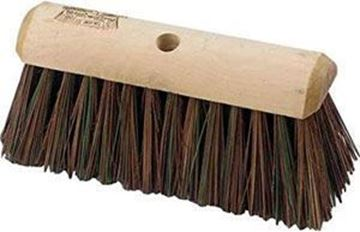 STIFF WOODEN YARD BRUSH HEAD 15/16