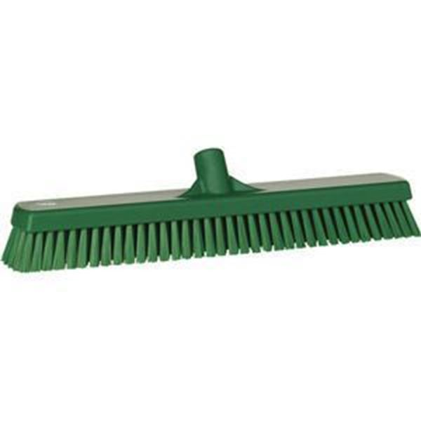 STIFF DECK BRUSH - GREEN