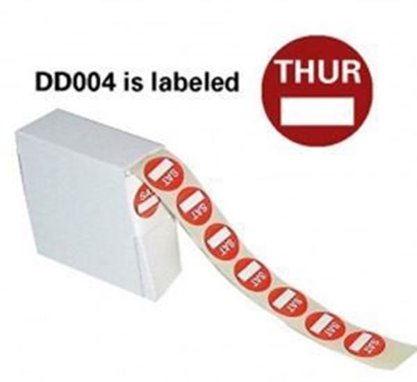 Picture of 5x1000 22mm DAYDOT LABELS - THURSDAY