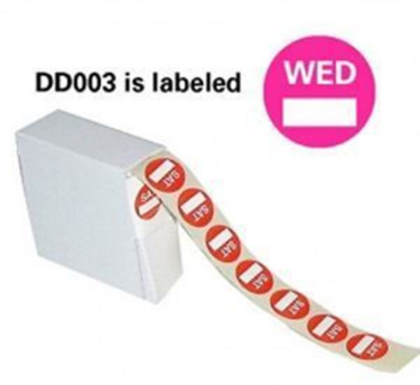 Picture of 5x1000 22mm DAYDOT LABELS - WEDNESDAY