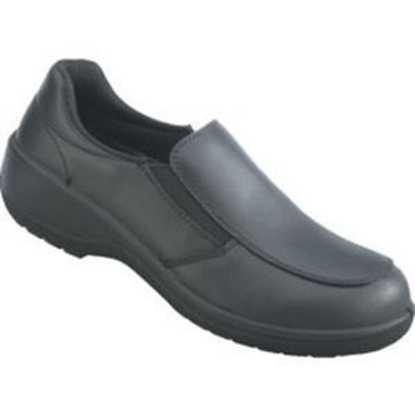 TOPAZ LADIES BLACK SAFETY SLIP ON SHOES S3 SRC - SIZE 6