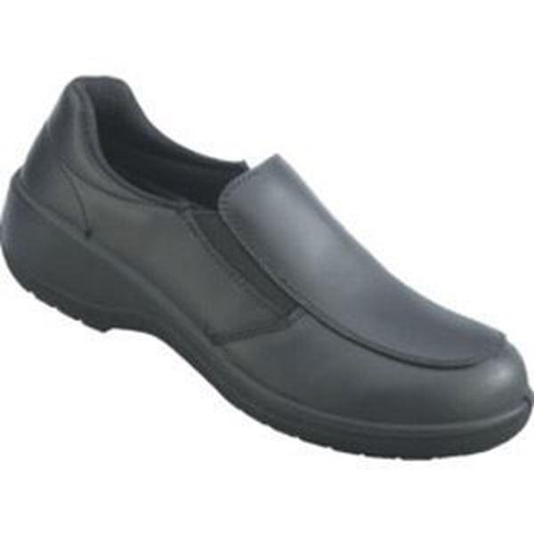 TOPAZ LADIES BLACK SAFETY SLIP ON SHOES S3 SRC - SIZE 7