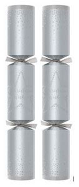 "Picture of 12"" CHRISTMAS WISHES SILVER CRACKER (L) x50"