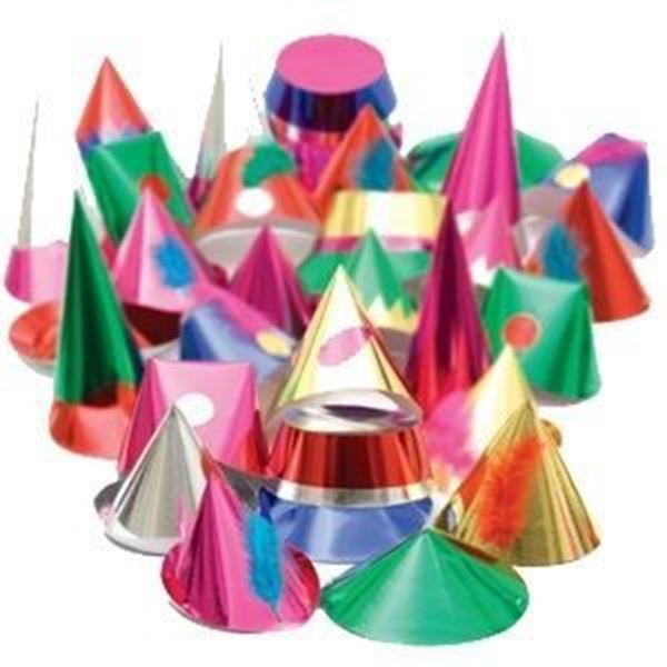 STARSHINE ADULT CHRISTMAS PARTY HATS