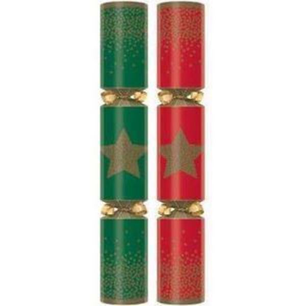 """Picture of 11"""" FESTIVE STAR CRACKER RED/GREEN (G) x100"""