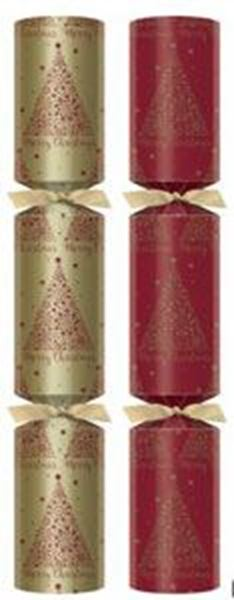 """Picture of 13"""" RED CHRISTMAS DREAM CRACKER (O) X50"""