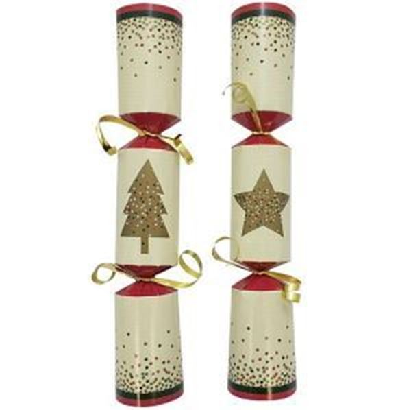 """Picture of 10"""" FESTIVE WISHES CRACKER (A) x50"""