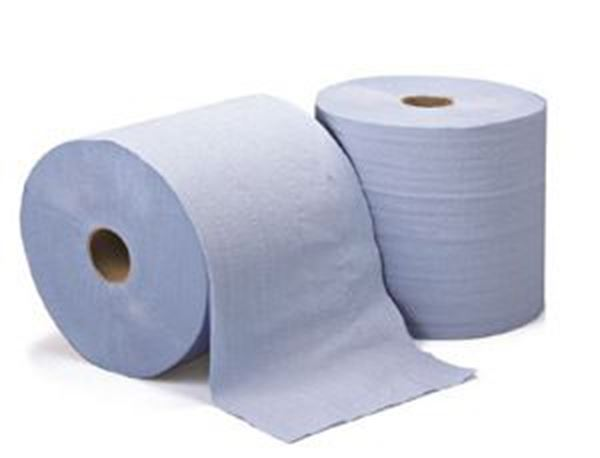 LEONARDO 2ply BLUE TOWEL ROLL