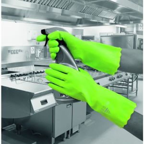 Picture of Pura Mediumweight PVC Glove - Green Size 9