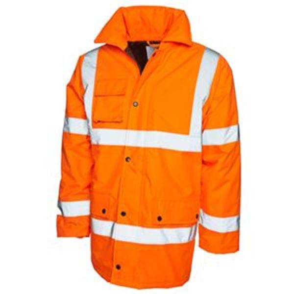 Hi Vis Traffic Jacket Orange Small