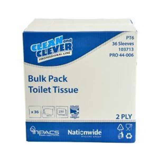 Clean and Clever PT6 2ply Toilet Tissue