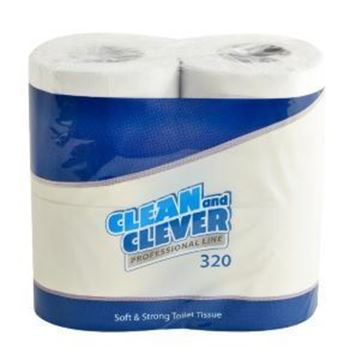 Clean and Clever Professional 2Ply Toilet Roll