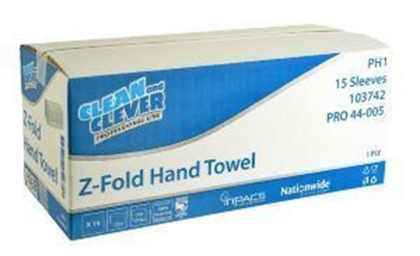 PH1 1ply GREEN ZFOLD HAND TOWEL