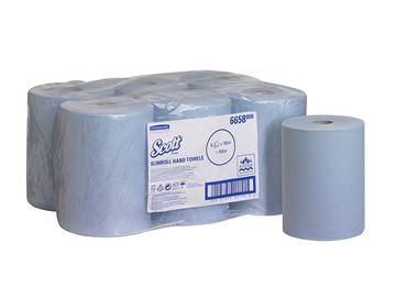 Scott® Slimroll™ Hand Towels 6658 - 6 x 165m blue, 1 ply rolls