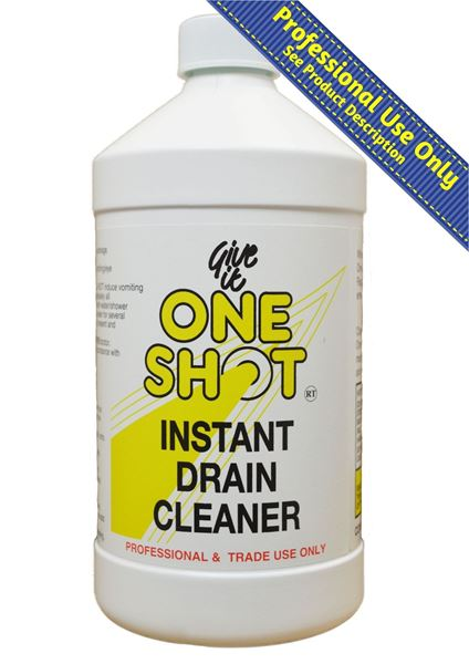 one shot instant drain cleaner and unblocker