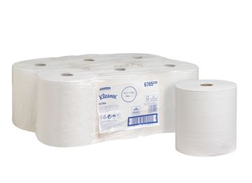 Kleenex® Ultra™ Hand Towel Roll 6765 - 6 x 130m white, 2 ply rolls
