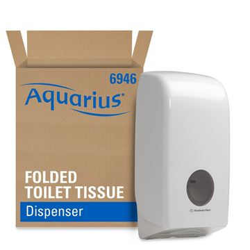 Aquarius™ Folded Toilet Tissue Dispenser 6946 - White