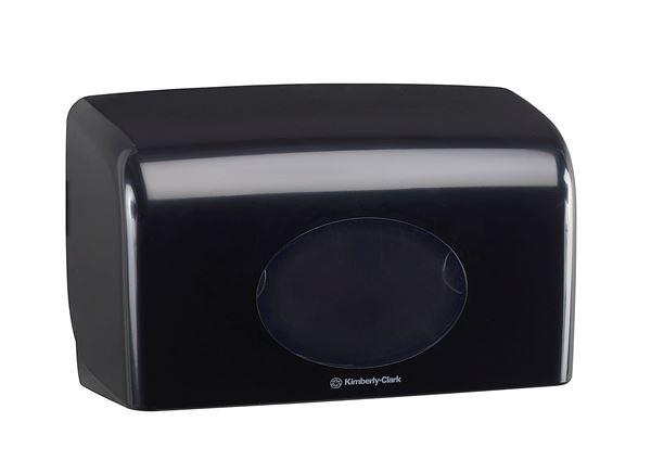 Aquarius™ Small Roll Toilet Tissue Dispenser 7191 - Black