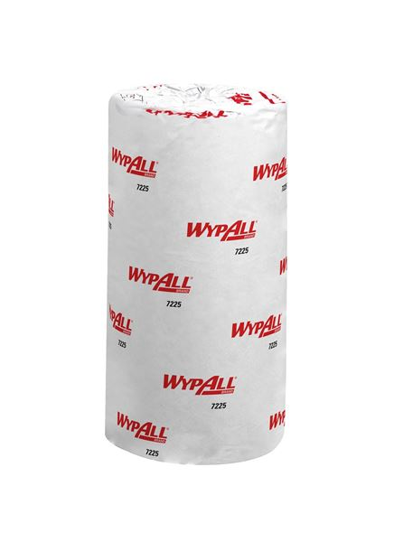WypAll® Food & Hygiene Wiping Paper L10 Compact Blue Roll 7225 - 24 rolls x 165 sheets, 1 ply