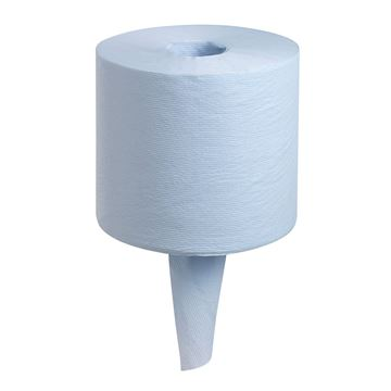 WypAll® Food & Hygiene Wiping Paper L10 Centrefeed 7255 - 6 rolls x 800 sheets, 1 ply, blue