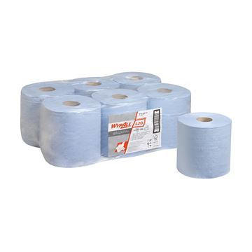 WypAll® L20 Essential Wiper Centrefeed 7277 - 6 rolls x 400 blue, 2 ply sheets