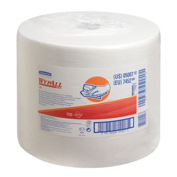 WypAll® L40 Large Roll Wipers 7452 - 1 roll x 750 white, 1 ply sheets