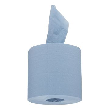 WypAll® Service & Retail Wiping Paper L10 Centrefeed for Roll Control™ Dispenser 7492 - 6 rolls x 400 sheets, 1 ply, blue