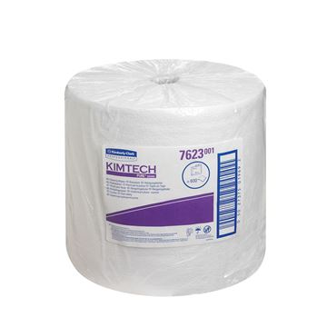 Kimtech™ Pure Cleaning Wipers 7623 - 1 roll x 600 white, 1 ply sheets