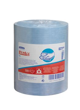WypAll® X60 Large Roll Cloths 8371 - 1 large roll x 500 blue, 1 ply cloths